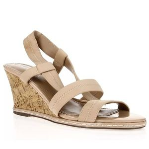Charles be Charles David Slingback Wedge Sandals